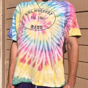 Early 00's Del McCoury Band Tie Dye Tee